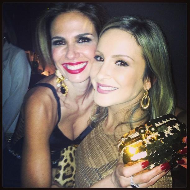 Luciana Gimenez e Claudia Leitte em festa em São Paulo (Foto: Instagram/ Reprodução)