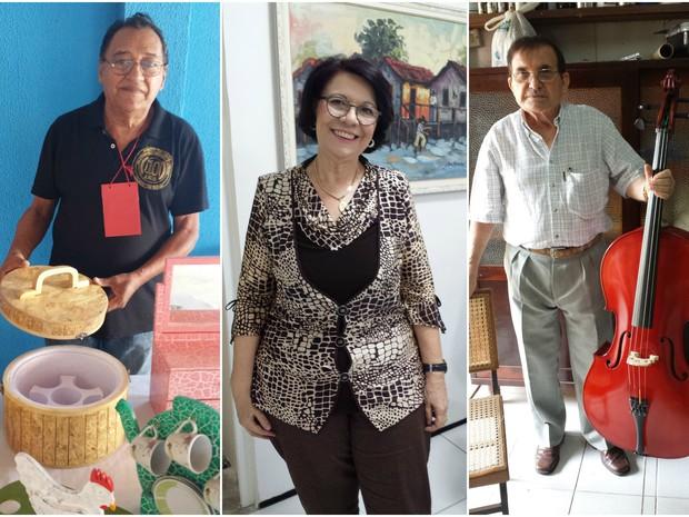 Trio de idosos usaram o próprio dinheiro para investir em novas carreiras. Bem sucedidos, eles agora falam sobre como curtir a vida na terceira idade. (Foto: Diana Vasconcelos / G1 CE)