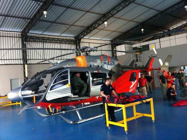 helicoptero comprado (Foto: Gabriela Alves/G1)