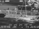 Homem e gato são resgatados de barco em águas agitadas no Alasca