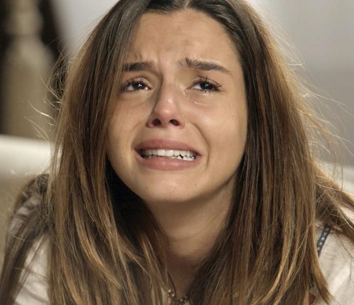 Luana transtornada com o sequestro do marido (Foto: TV Globo)