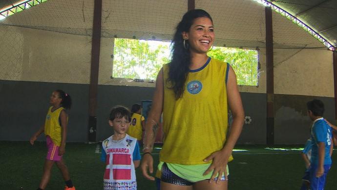 Ex-Santos, Calan hoje defende o Centro Olímpico de São Paulo (Foto: Reprodução/TV Amapá)