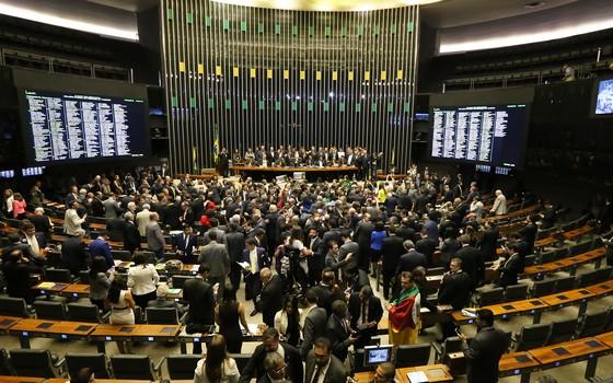Sessão especial para votação do impeachment na Câmara dos Deputados (Foto: Antonio Augusto / Câmara dos Deputados)