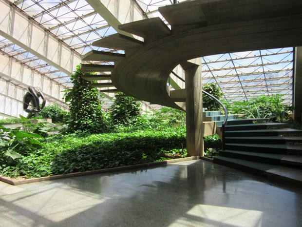 Área interna do Teatro Nacional Claudio Santoro (Foto: Isabella Formiga/G1)