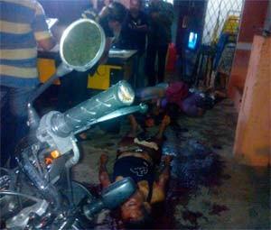 Chacina aconteceu no bairro de Cidade Nova, Zona Oeste de Natal (Foto: Anderson Barbosa/G1)