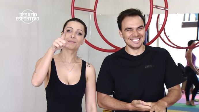 Mário participa de 'Desafio Esportivo' com Cecília Ribeiro (Foto: Divulgação)
