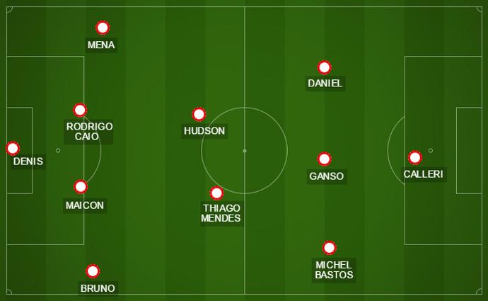 A volta do lateral Mena será a única novidade do São Paulo para o jogo deste sábado, contra o Oeste (Foto: GloboEsporte.com)