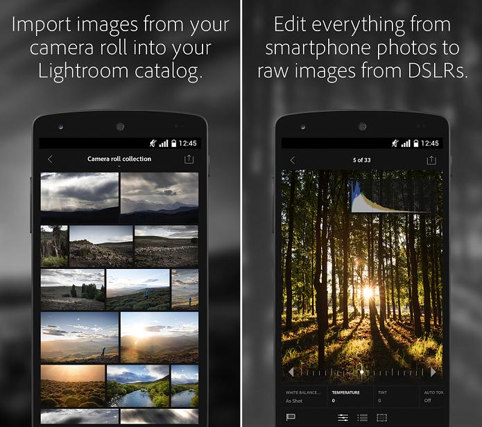 Adobe Lightroom mobile é um app para edições de fotos no Android (Foto: Divulgação)