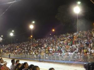 Segundo dia de desfile atraiu público de mais de 25 mil pessoas  (Foto: Renata Marconi/ G1)