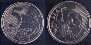 Moedas de R$ 0,50 com defeito (Foto: Divulgação/ Banco Central)