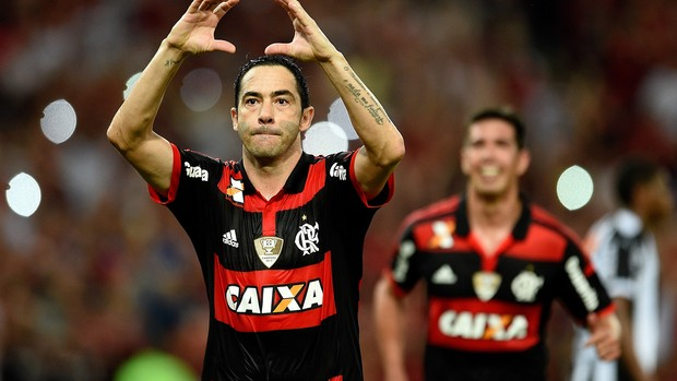 Chicão gol Flamengo x Atlético-MG (Foto: Getty Images)