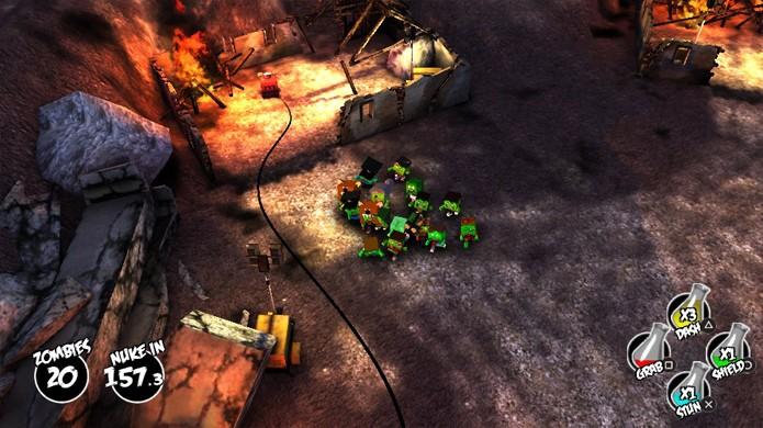 Descubra rapidamente o que precisa quebrar para seguir em frente em The Hungry Horde (Foto: PlayStation Universe)