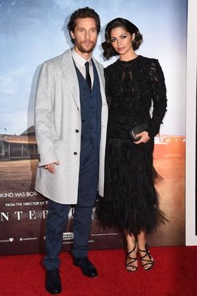Matthew McConaughey e Camila Alves em pré-estreia de filme em Nova York, nos Estados Unidos (Foto: Andrew H. Walker/ Getty Images/ AFP)