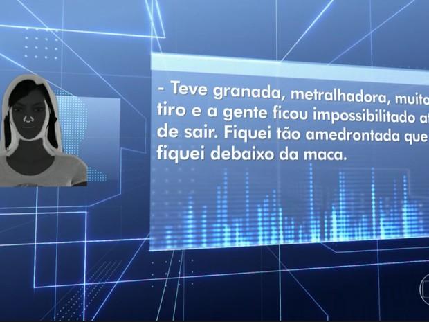 Médica relata terror em ação de criminosos no Souza Aguiar (Foto: Reprodução/Globo)