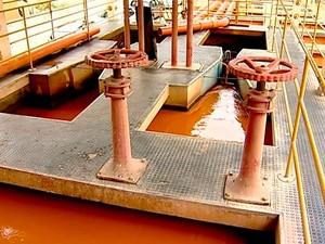 Central de captação de água em Colatina (Foto: Reprodução/ TV Gazeta)