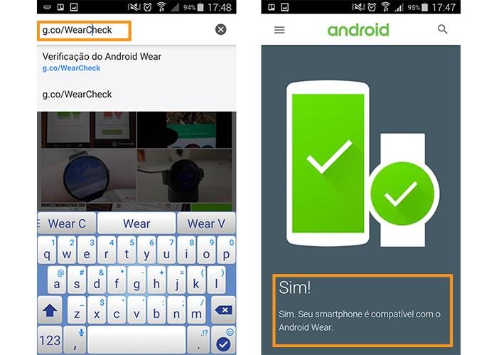 Site do Android mostra a compatibilidade com o Android Wear do smartwatch (Foto: Reprodução/Barbara Mannara)