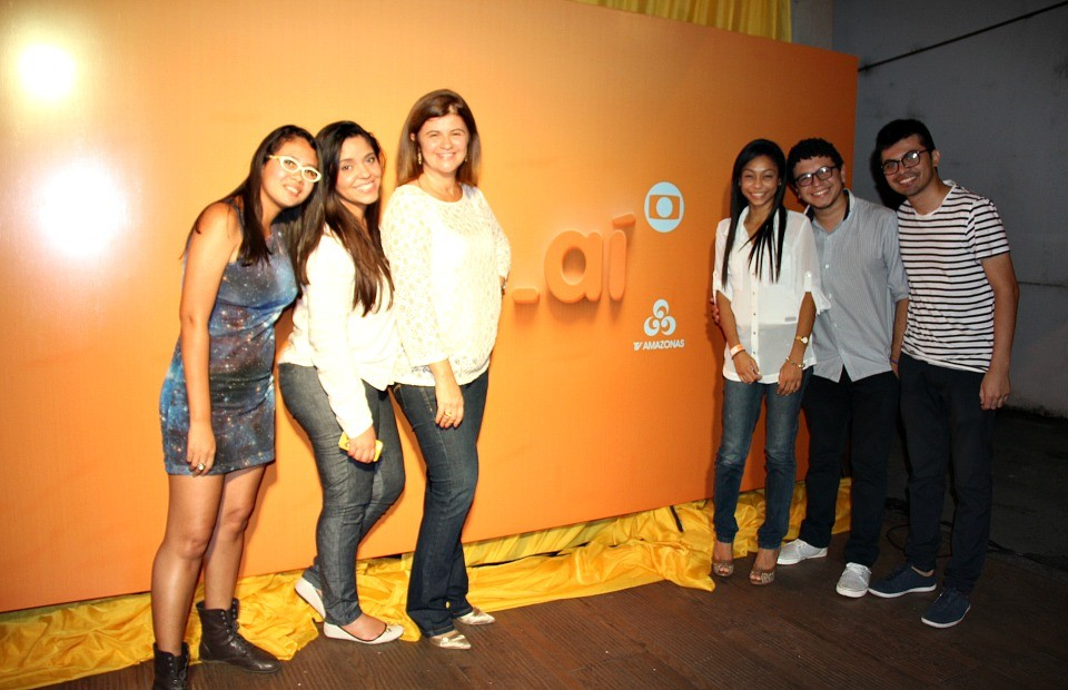 Muitos cliques dos convidados marcaram o evento, em Manaus (Foto: TV Amazonas)