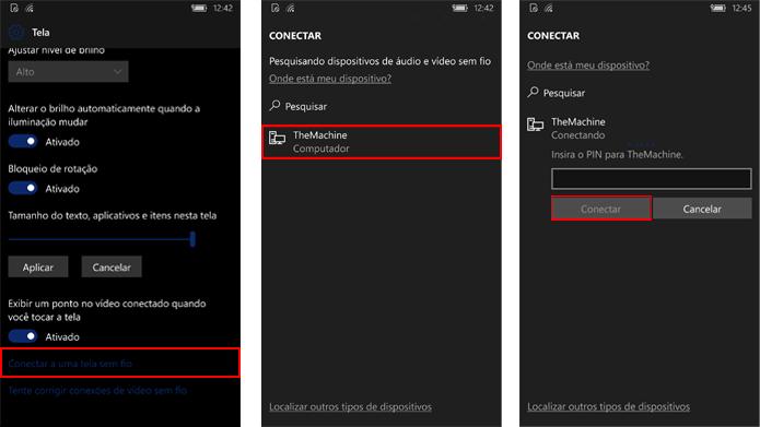 Windows Phone pode projetar tela em dispositivos com Windows 10 (Foto: Reprodução/Windows)