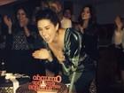 Fernanda Paes Leme comemora aniversário com amigos famosos