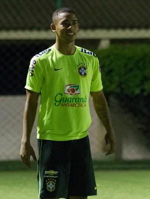 Gabriel Jesus, treino da seleção olímpica (Foto: Adelson Costa)
