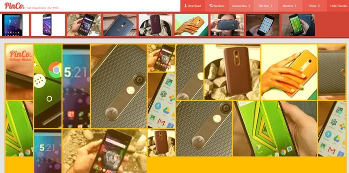 PinCo Collage Maker permite fazer colagens de fotos para postar no Pinterest (Foto: Reprodução/Barbara Mannara)