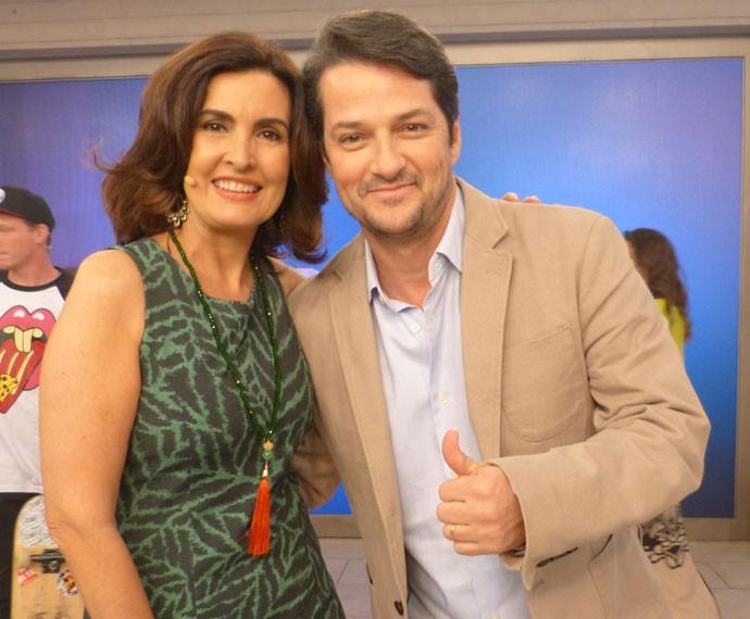 Fátima e Marcelo Serrado (Foto: Viviane Figueiredo Neto/ Gshow)