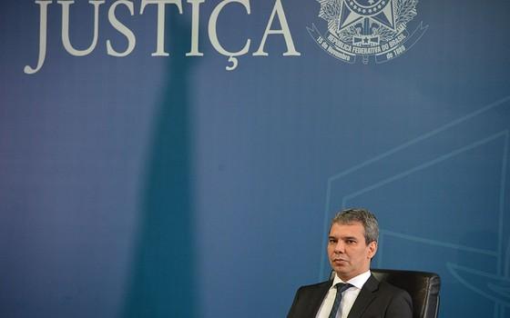 O novo ministro da Justiça, Wellington César Lima e Silva, durante cerimônia de transmissão de cargo  (Foto: Valter Campanato/Agência Brasil)