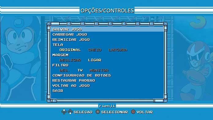 Mega Man Legacy Collection traz a possibilidade de salvar e algumas modificações (Foto: Reprodução/Felipe Vinha)