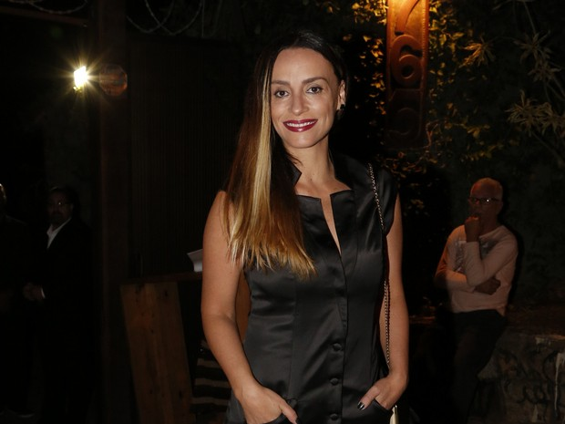 Suzana Pires em festa na Zona Sul do Rio (Foto: Felipe Assumpção/ Ag. News)