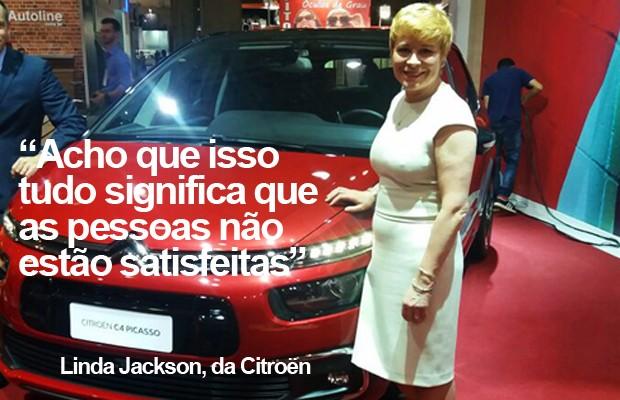 Linda Jackson, CEO mundial da Citroen (Foto: Peter Fussy/G1)