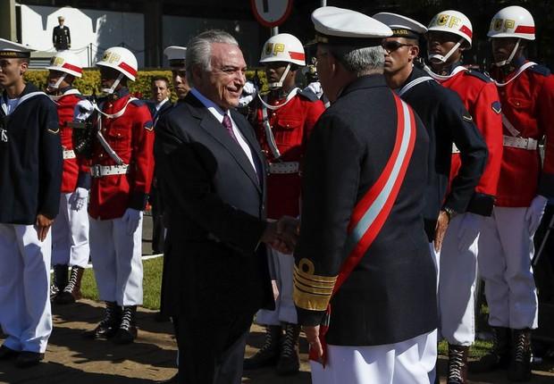 Michel Temer participa de Cerimônia militar na Marinha (Foto: Marcos Correa/PR)