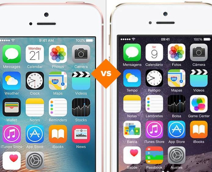 Confira o comparativo entre o iPhone SE e o iPhone 5S (Foto: Arte/TechTudo)