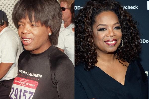 Oprah Winfrey é uma das mulheres mais ricas dos Estados Unidos - o que se refletiu muito em sua aparência (Foto: Divulgação e Getty Images)