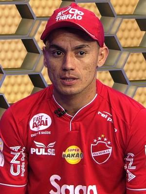 Moisés, atacante do Vila Nova (Foto: Reprodução/TV Anhanguera)