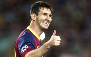 Messi comemora gol Barcelona e Ajax (Foto: EFE)