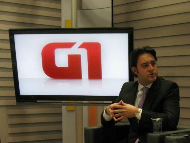 """Ratinho Jr (PSC) é deputado federal e lidera a coligação """"Curitiba Criativa"""" (Foto: Sanuel Nunes/ G1 PR)"""