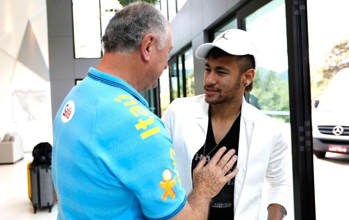 Neymar na Granja chegada da seleção (Foto: Rafael Ribeiro / CBF)