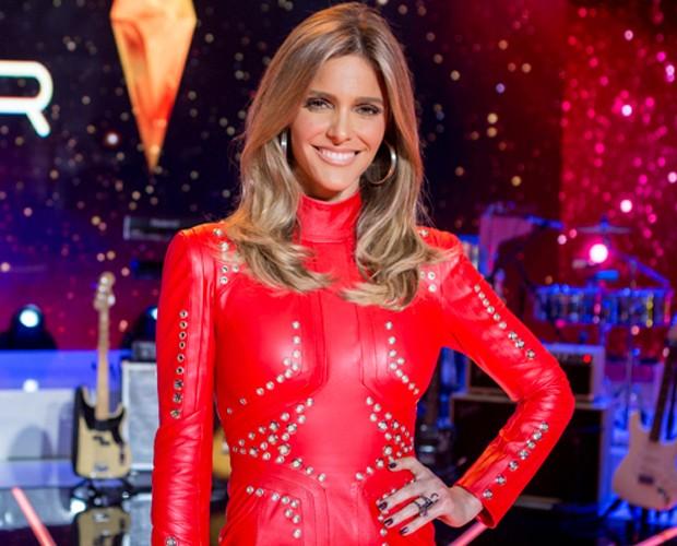 Fernanda Lima usa vestido de couro para Audições (Foto: Isabella Pinheiro / Gshow)