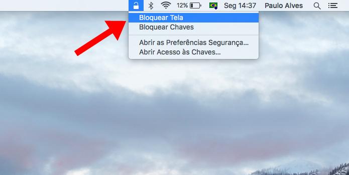 Bloqueie o Mac com um clique do mouse (Foto: Reprodução/Paulo Alves)