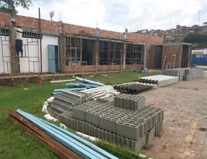 Academia do CSA passa por reformas desde outubro (Foto: Augusto Oliveira / GloboEsporte.com)