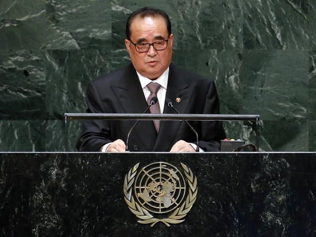 Coreia do Norte, ministro das relações exteriores, Ri Su Yong (Foto: Ray Stubblebine/Reuters)