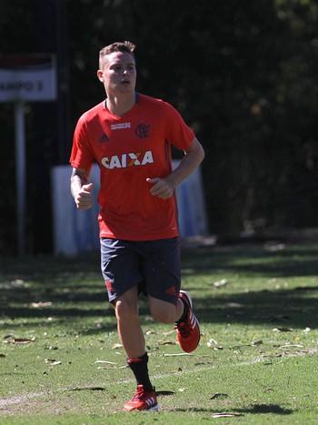 Adryan e Donatti treino Flamengo (Foto: Gilvan de Souza/Flamengo)