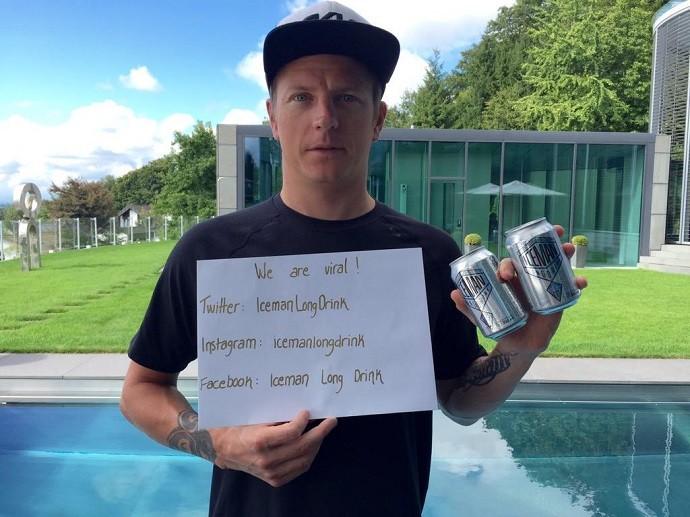 Kimi Raikkonen garoto-propaganda da bebida