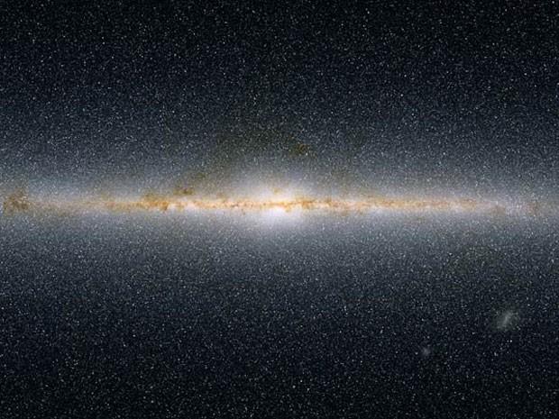 Halo interior é a parte mais próxima ao centro da Via Láctea (Foto: 2mass/J. Carpenter T.H. Jarrett & R. Hurt)