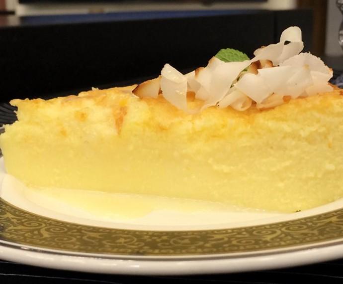 Torta cremosa de coco e requeijão (Foto: Gshow)