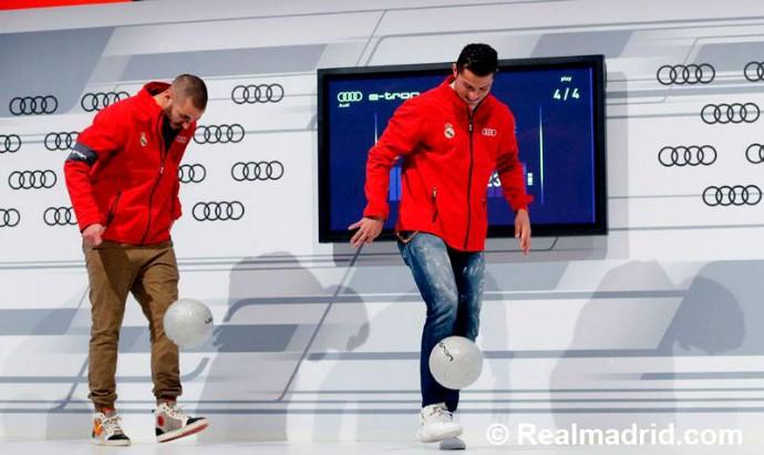 Benzema Cristiano Ronaldo Audi Real Madrid