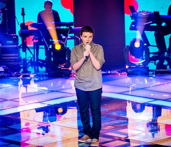 """Daniel Henrique cantou """"Cedo ou tarde"""" e foi escolhido pelo voto popular (Foto: Isabella Pinheiro / Gshow)"""