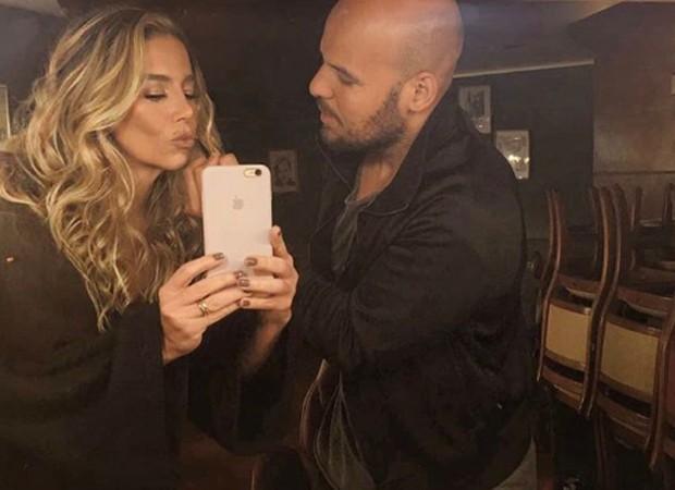 Daielle Winits e o maquiador Teodoro Jr. (Foto: Reprodução/Instagram)