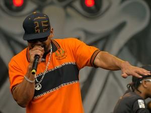DOMINGO (19 ) - Racionais MC's se apresentam no palco da Estação Júlio Prestes (Foto: Flavio Moraes/G1)