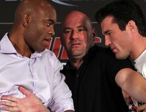Anderson Silva, Dana White e ChaelSonnen UFC (Foto: Getty Images)